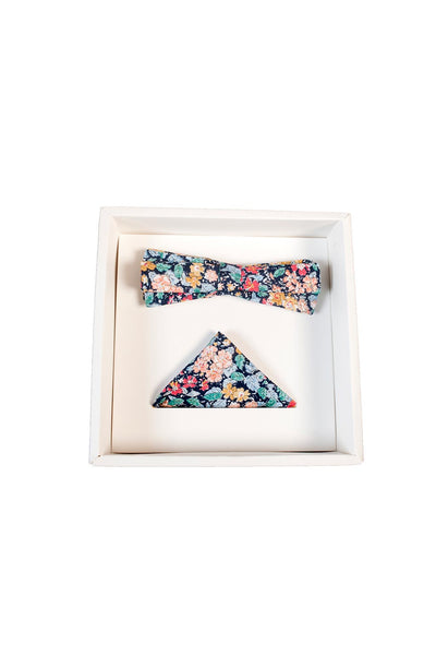 Hew Clothing Bow Tie Set Floral