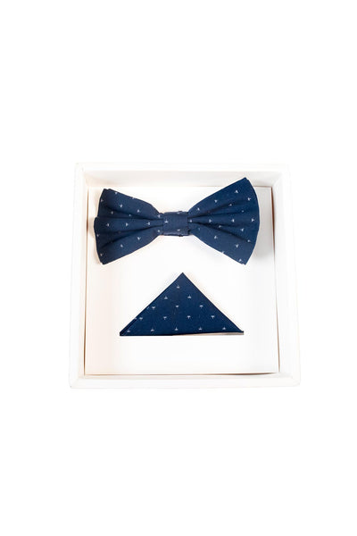 Hew bow tie set navy star
