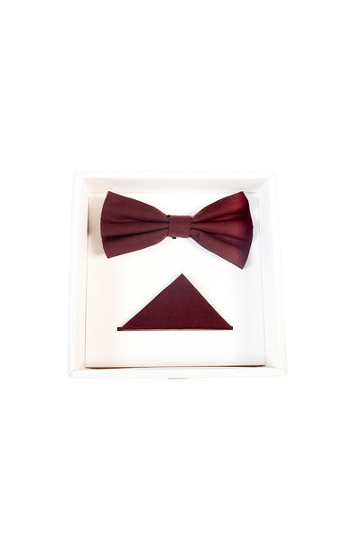 Hew Clothing Bow Tie Set Plum