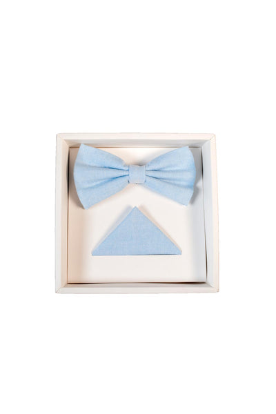 Hew Clothing Bow Tie Set Sky Blue