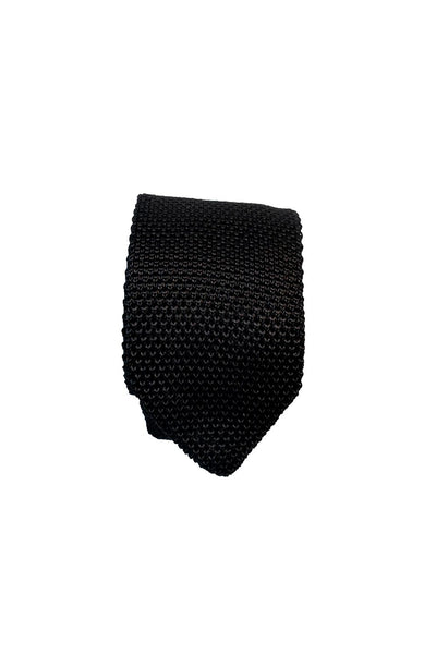 HEW Clothing Tie Knitted in Black
