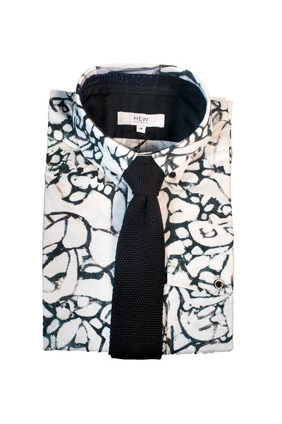 HEW Clothing Knitted Tie Black