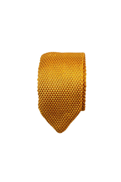HEW Clothing Knitted Tie in Mustard