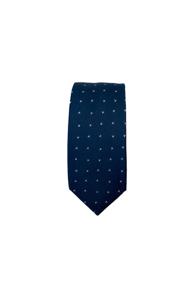 HEW Clothing Tie in Navy Star