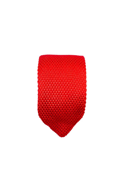 Hew Clothing Knitted Tie in Red
