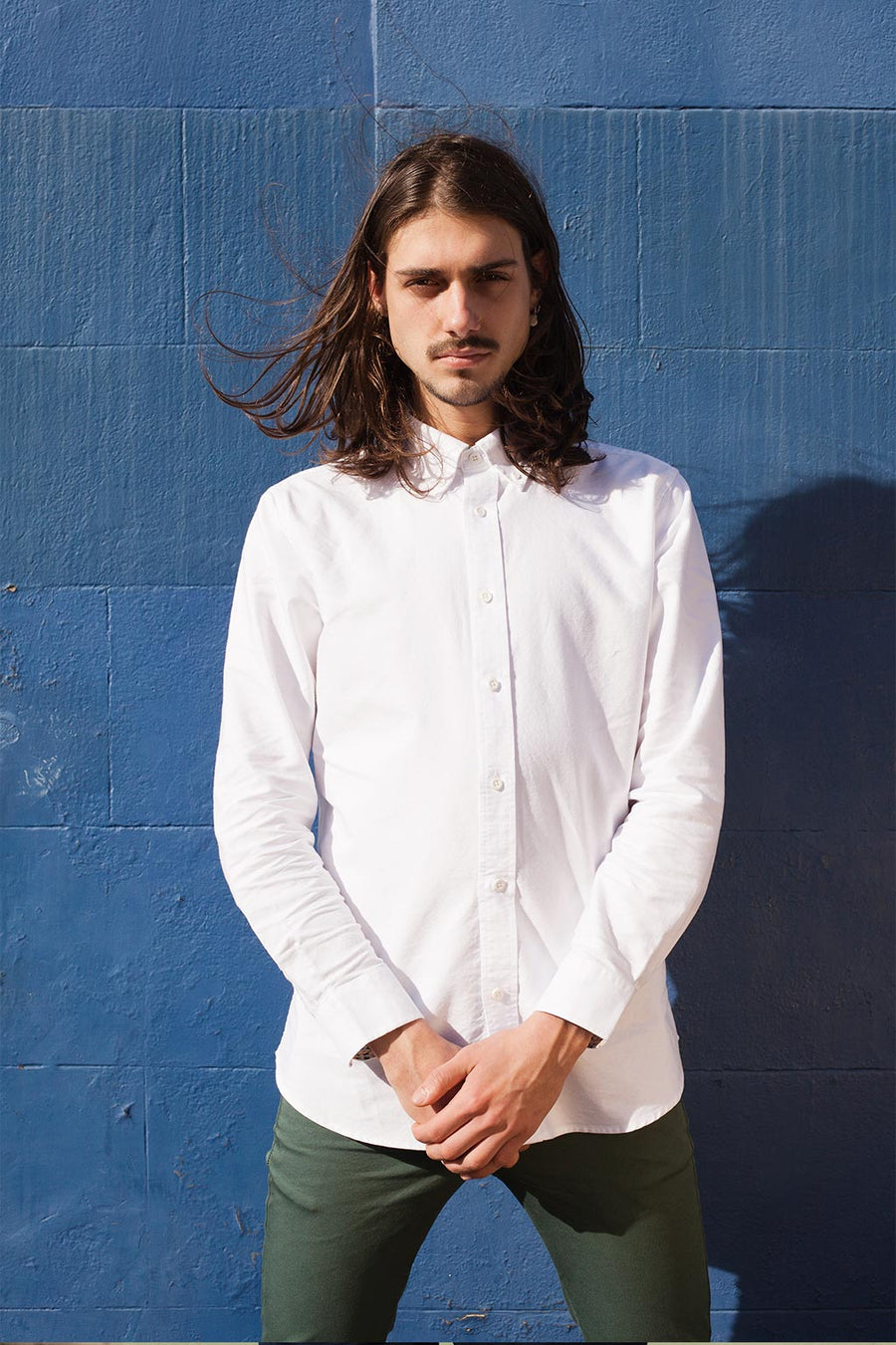 Sample of Relaxed Oxford Shirt in White