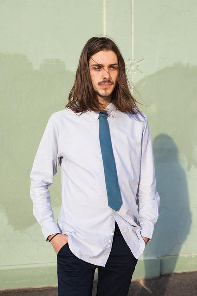 HEW X MARIA RELAXED OXFORD SHIRT IN GREY