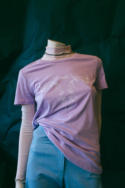 HEW X AMBER PHILLIPS Womens Femme T-Shirt in Lavender