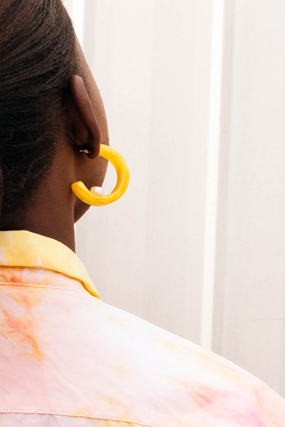 HEW Chunky Yellow Hoop Earring
