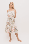 Smock Frill Dress in Muzi Floral Cream