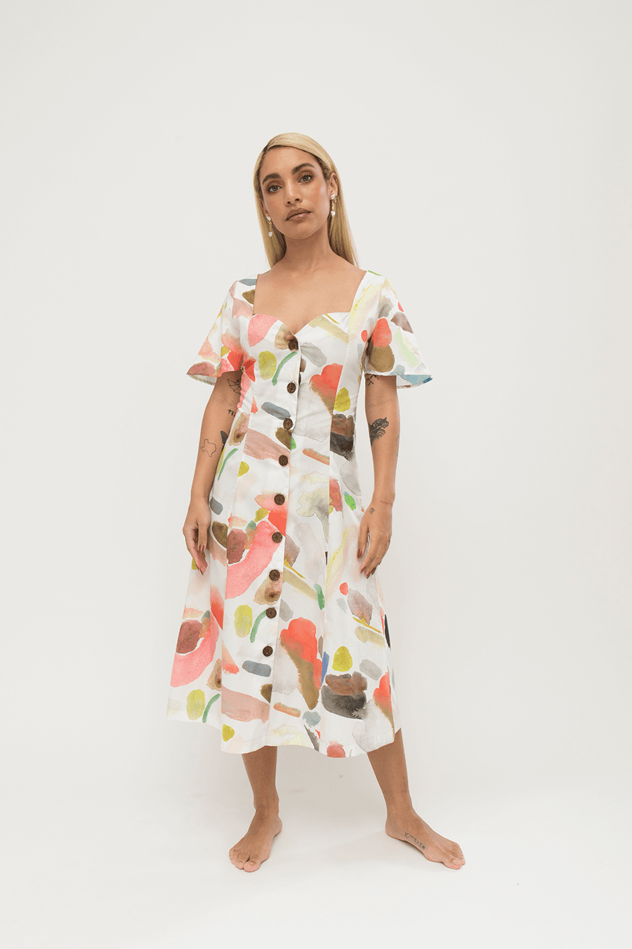 Sunday Dress in Conversation Print