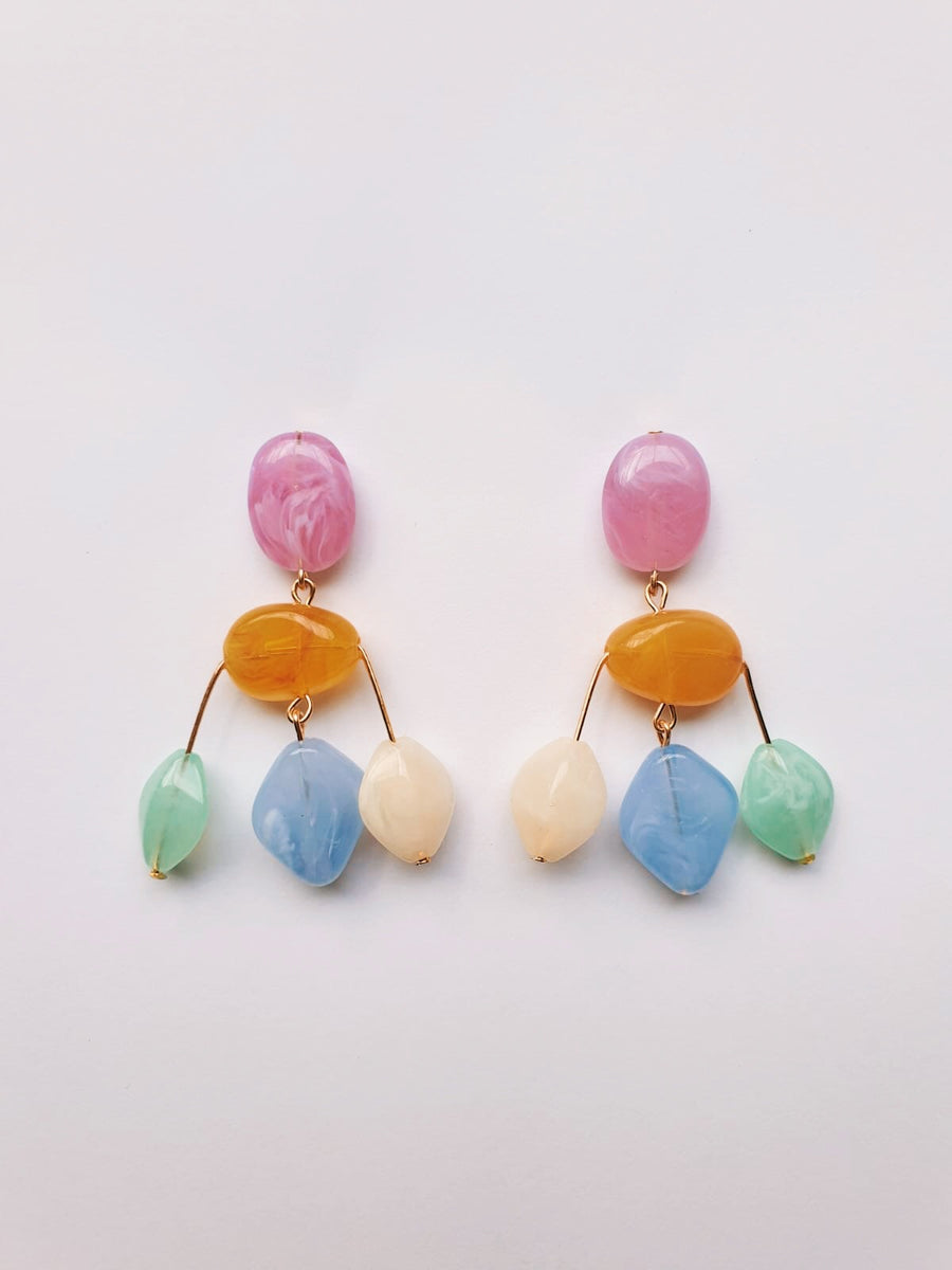 MINI CASCADE EARRING IN PASTEL
