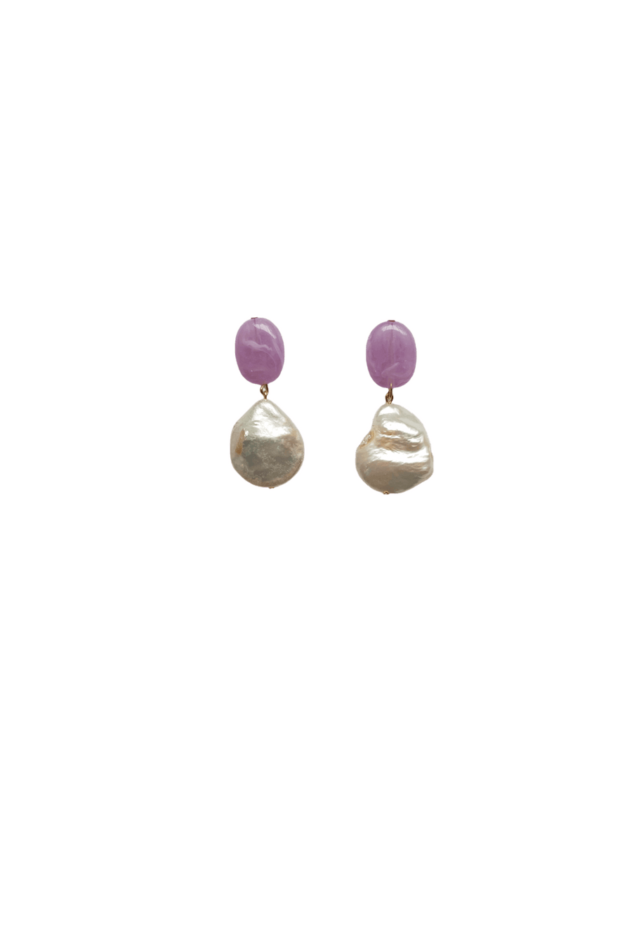 Lilac Pearl Earring