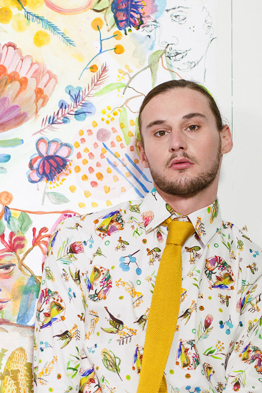 REGULAR OXFORD SHIRT IN WATTLE IT BE CREAM PRINT