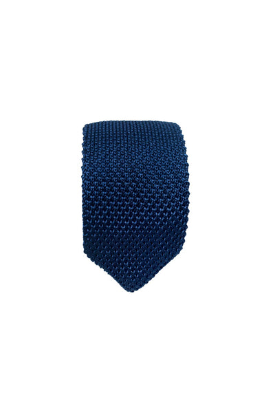 HEW Clothing Knitted Tie in Navy