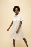 Organic Hemp Short Sleeve Shirt Dress