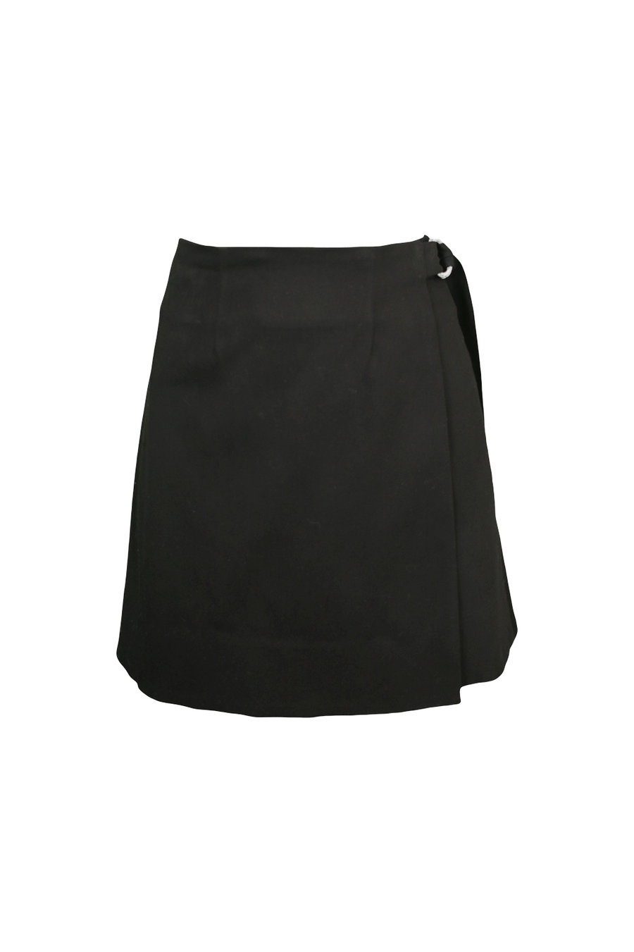 Pencil Wrap Skirt in Black