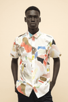 Short Sleeve Shirt in Conversation Print