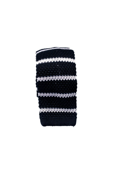 HEW Clothing Knitted Tie in Black and White