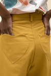 Wide Leg Crop Pants in Mustard