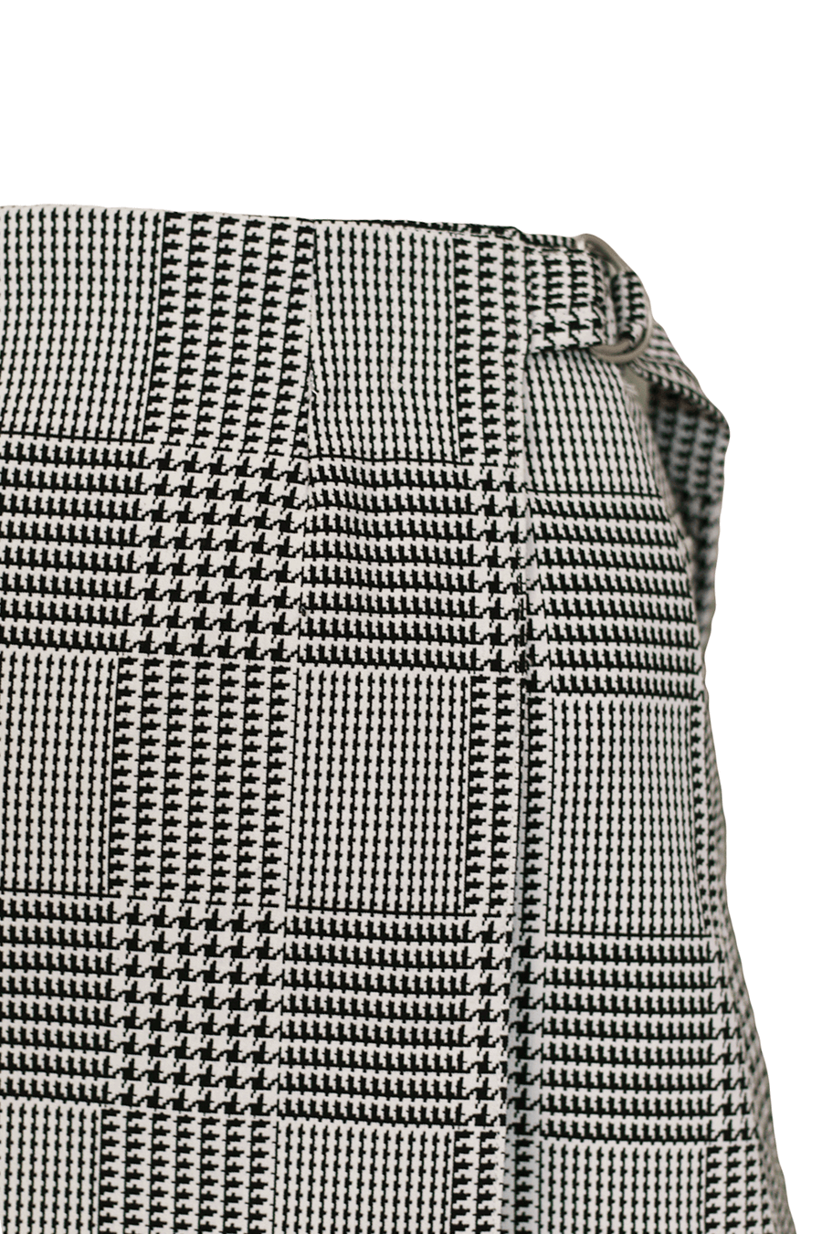 Wrap Skirt in Houndstooth Print