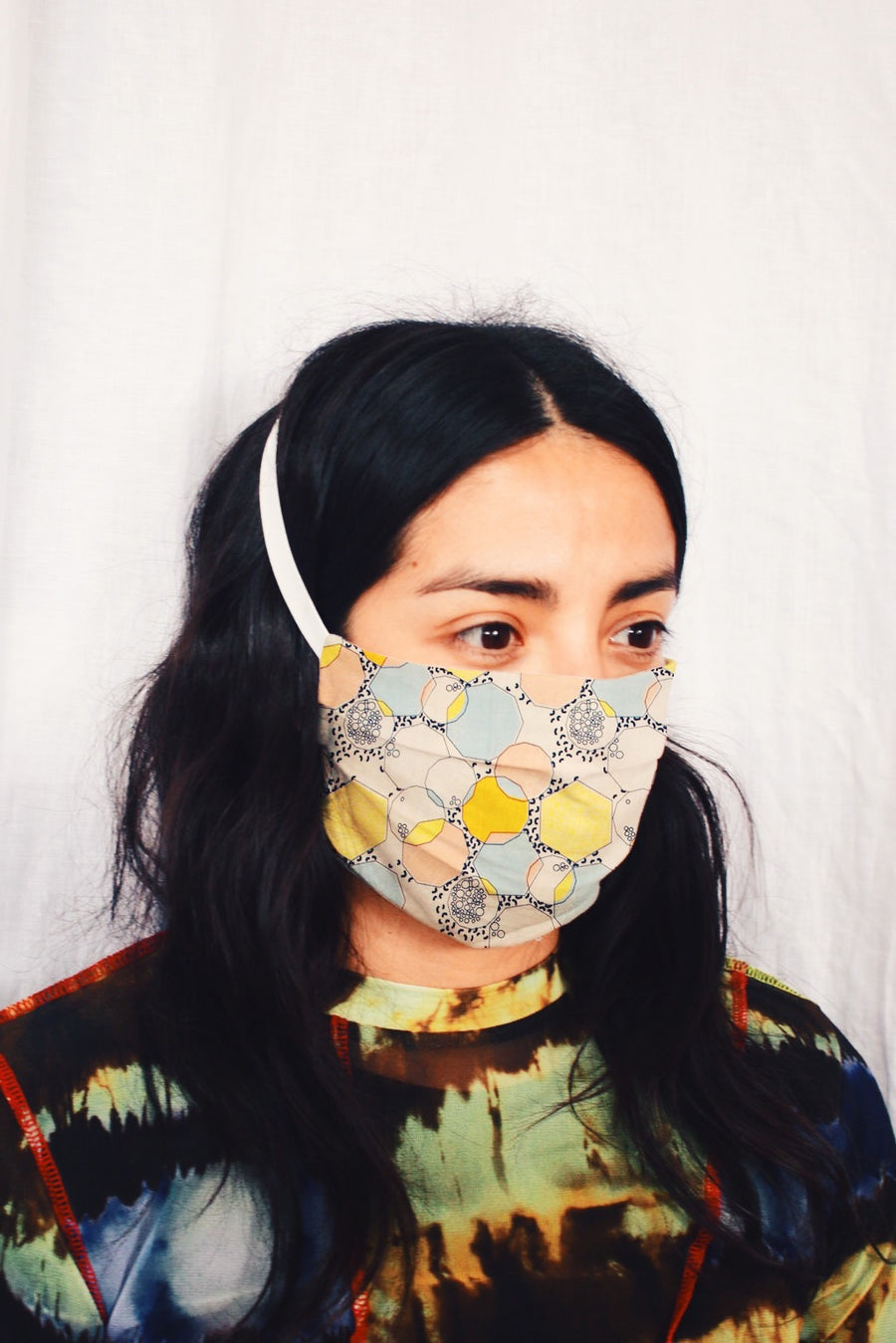 Cloth Face Mask in Yellow Bubble