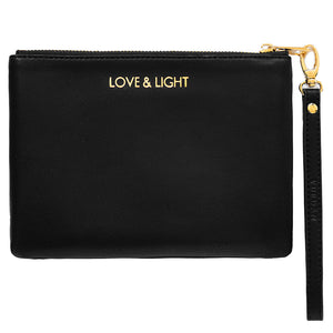 classic black pouch personalised with monogram