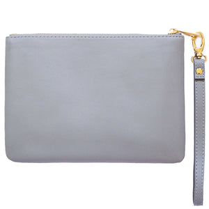 shade of grey pouch personalised with monogram