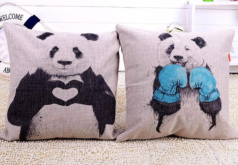 Panda Love or Boxing Pillow