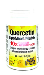 Quercetin Lipomicel Matrix 250mg 60 Softgels