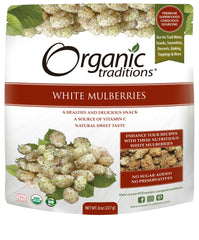 Organic White Mulberries 227g
