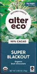 Organic Super Black Out Chocolate 90% 80g