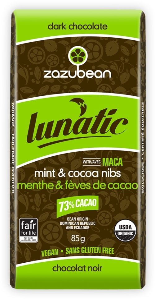 Lunatic Mint Cocoa Nibs 73% Cacao 85g