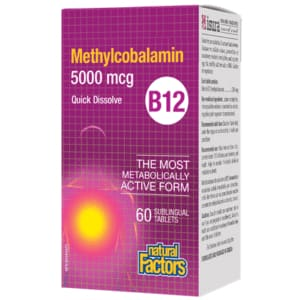 B12 Methylcobalamin 5000mcg 60 Tablets - VitaminB