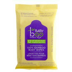 Bamboo Baby Wipes Travel 12 Counts