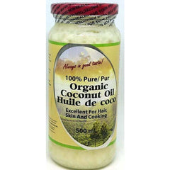 Coconut Oil 100% Pure Organic 500mL