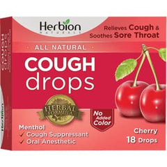 Cough Lozenges Sugar Free Cherry 18Loz