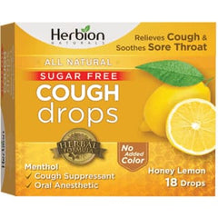 Cough Lozenges Sugar Free Honey Lemon 18Loz