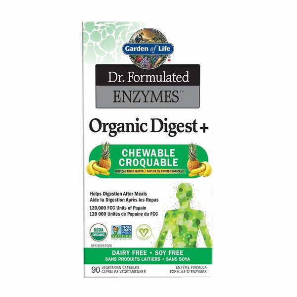 Dr.Formulated Organic Digest Plus 90 Tablets - Enzymes