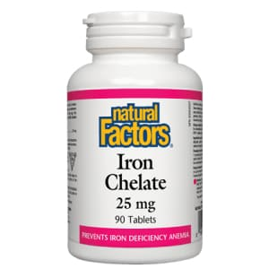 Iron Chelate 25mg 90 Tablets - Iron