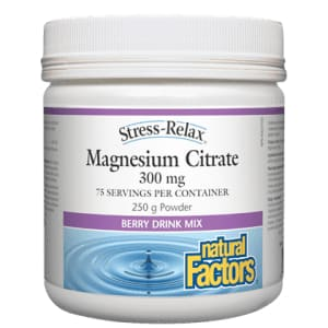 Magnesium Citrate Powder 250g Berry Drink Mix - Magnesium