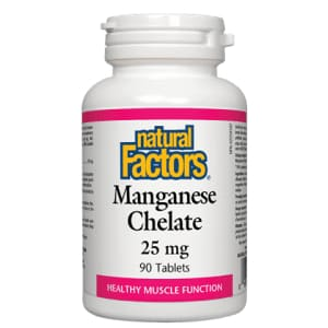Manganese Chelate 25mg 90 Tablets - Mineral