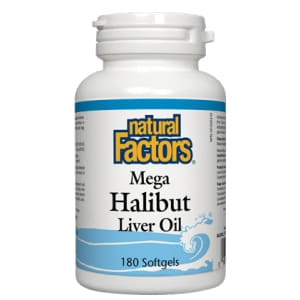 Mega Halibut Liver Oil 180 Soft Gels - VitaminD