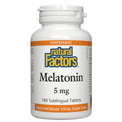 Melatonin 5mg Sublingual 180 Tablets