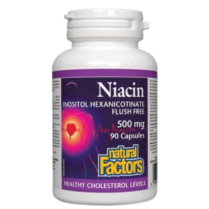 No Flush Niacin 500mg 90 Caps - VitaminB