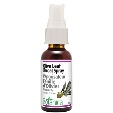 Olive Leaf Throat Spray Peppermint - ImmuneCold
