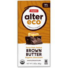 Organic Dark Brown Butter Chocolate 70% 80g