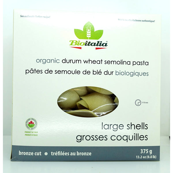 Organic Durum Wheat Big Shells 375g - Pasta