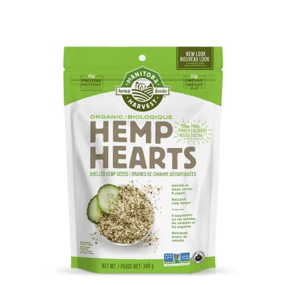 Organic Hemp Hearts Raw Shelled 340g - Hemp