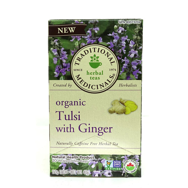 Organic Tulsi With Ginger Tea 20 Bags